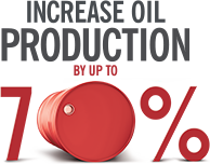 Increase oil production 70%