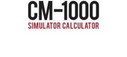 CM1000 Simulator Calculator