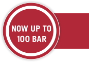 Now up to 100 bar