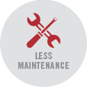 Less maintenance